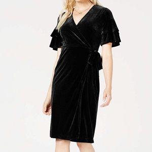 Maison Jules Women' Velvet Wrap Asymmetrical Dress